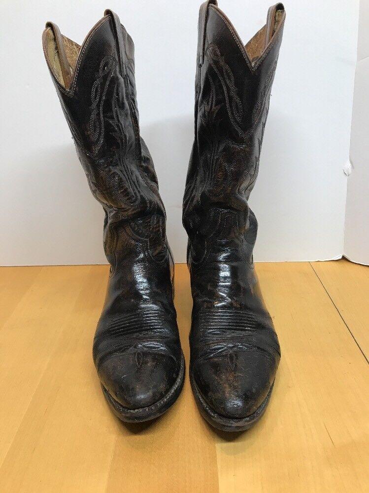 Mens Tony Lama VM2993? Brn Distressed Western Leather Cowboy Western Distressed Boots Sz 9D a9b74d