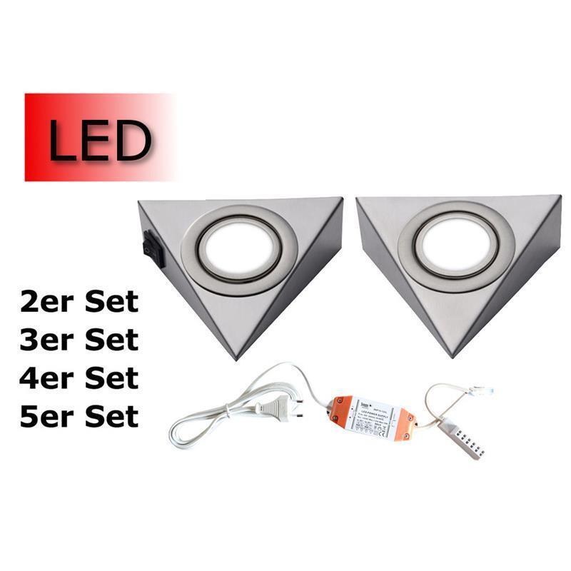 LED Unterbauleuchte 2er-5er Set Küchenleuchte Unterbaustrahler Strahler Küche