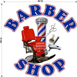 42-034-X-42-034-VINYL-DECAL-FOR-BARBER-SHOP-HAIR-DRESSER-WALL-OR-WINDOW-NEW