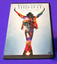 Michael Jackson's This Is It (DVD, 2010 Widescreen) Pop Music, VG- FAST SHIP!