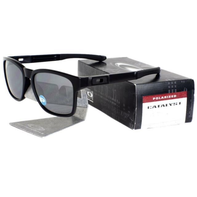 d0f755276d4 Oakley OO 9272-09 POLARIZED CATALYST Matte Black Iridium Lens Mens  Sunglasses .