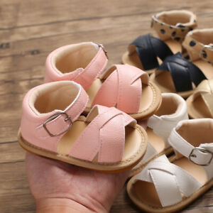 Newborn Infant Baby Girls Boys Princess Shoes Casual Sandals Prewalker Footwear