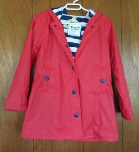 Hatley Girls Splash Jacket Red Rain