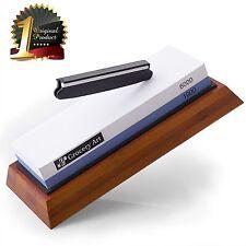 "Whetstone â?"" Knife Sharpening Stone 1000-6000 Grit with non-slip Bamboo Base"