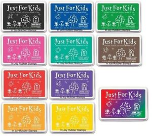 Hero-Arts-Just-for-Kids-Ink-Pad-Nontoxic-Choose-from-Red-Green-Blue-Orange