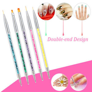 5pc-set-Sequins-Handle-UV-Gel-Polish-Drawing-Two-Head-Pen-Brush-Nail-Art-Tools
