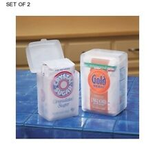 Food Storage Container Sugar Flour Saver Set Air Tight Lid Kitchen Pantry Holder
