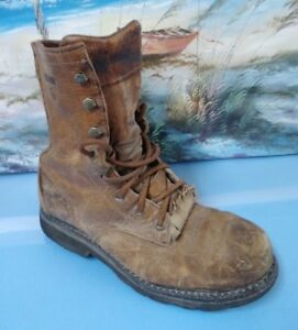 2daf94c1c98 Details about WOLVERINE W08393 MENS BROWN LEATHER STEEL TOE WORK BOOTS SZ  8.5 EW
