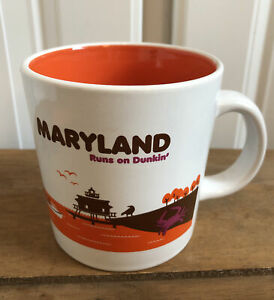 Dunkin Donuts Destination Maryland Runs on Dunkin Coffee Cup Mug 2013