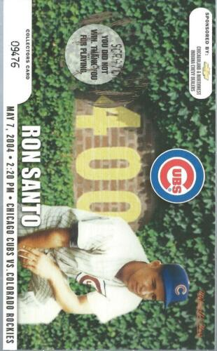 2004 SGA Cubs Scratchoff Ron Santo May 7