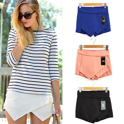 fa7df970dea9 32 34 36 38 40 Damen Sexy Pants Minirock Hosenrock Kurz Sommer Mini Hose  Rock