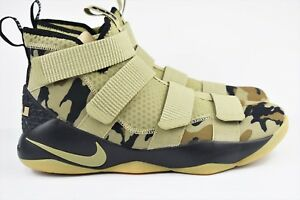 5d18ff693136 Nike Lebron Soldier 11 XI Mens Size 11 Basketball Shoes Camo 897644 ...