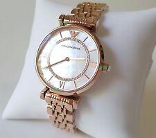 BRAND NEW Emporio Armani AR1909 Women's Classic Crystal Rose Gold Watch Luxury