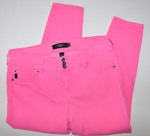 Torrid-Denim-Cropped-Jeggings-Size-16-Neon-Pink-Jean-Women-039-s-Stretch