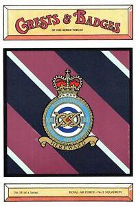 Postcard-RAF-Royal-Air-Force-No-2-Squadron-Crest-Badge-No-18-NEW