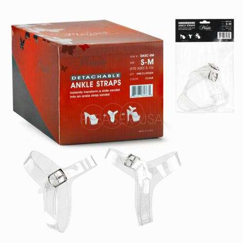 Pleaser Clear amovible Cheville Bretelles 1 Paire Taille S//M ou L//XL