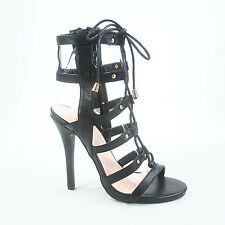 a9663a6ac47 item 5 Women s Strappy Cutout Lace Up Open Toe Gladiator High Heel Sandal  Size 5 - 10 -Women s Strappy Cutout Lace Up Open Toe Gladiator High Heel  Sandal ...