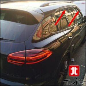 Set 4 Déflecteurs de vent pluie air teintées Porsche Cayenne II 2011-2018 92A