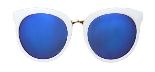 Sonnenbrille weiß gold blau Cat Eye by Ella Jonte UV 400 Katzenaugen Trend new