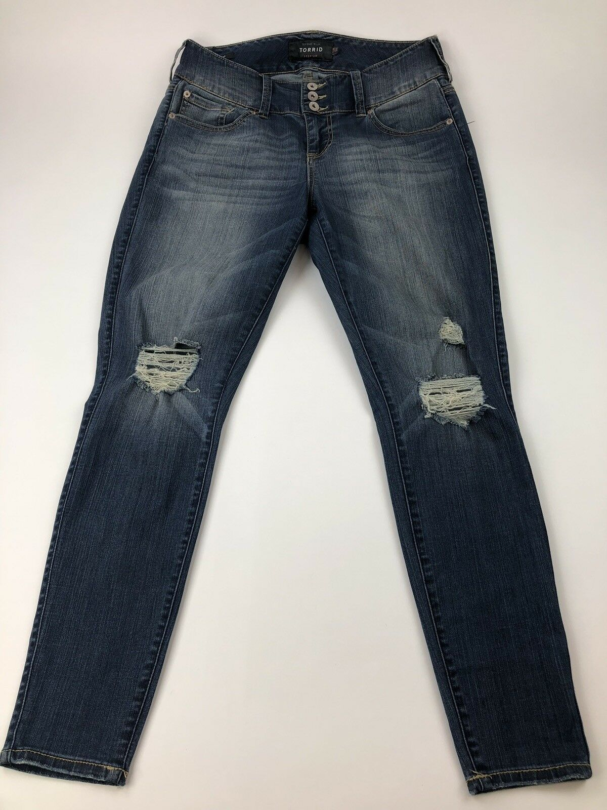 53ab49f6c9 Torrid Distressed Jegging Skinny Ankle Jeans Size 12R EUC Premium  ouablr7127-Jeans