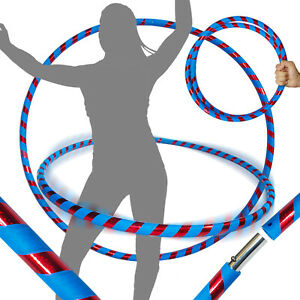 WEIGHTED TRAVEL HULA HOOP Pro Hoops Ultra-grip//Glitter Deco Blue//Red 100cm