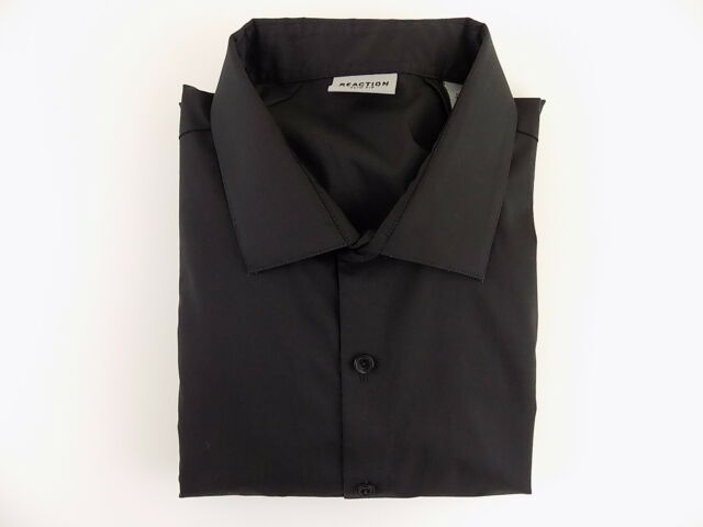 KENNETH COLE $95 Black 17.5 x 32/33 Slim Fit MEN DRESS SHIRT SALE CASUAL B03