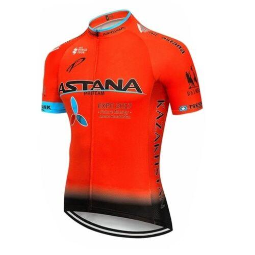 NEW 2019 ASTANA team pro cycling jersey MTB Ropa Ciclismo mens women summer