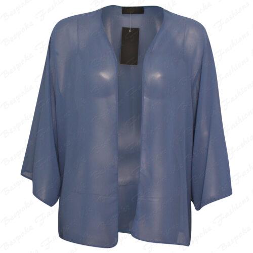 DONNA WOMEN/'S PLUS SIZE SHEER chiffon Vedere attraverso Baggy Bolero Cardigan Top