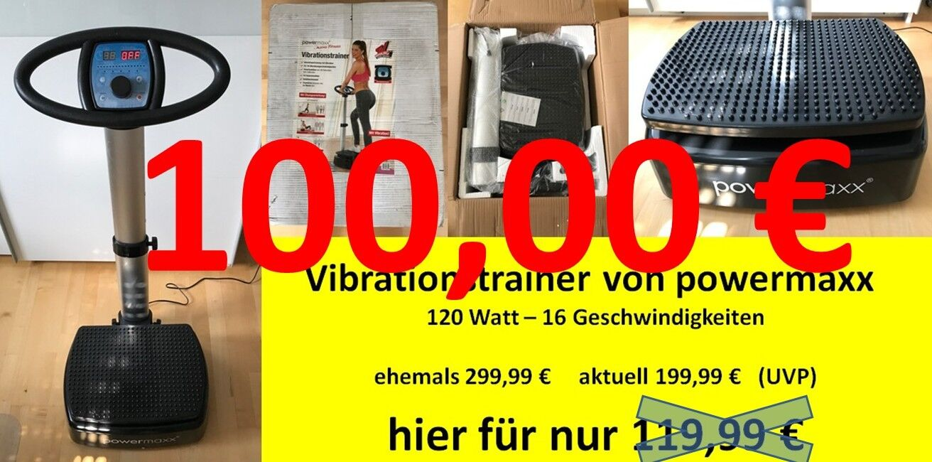 Vibrationstrainer von powermaxx maxxworld - B-Ware aber wie neu - Fitness
