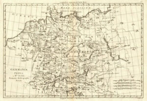 Map Of The Netherlands And Germany.Details About Germania Vetus Ancient Germany Netherlands Switzerland Bonne 1789 Old Map