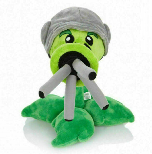 12inch Plants Vs Zombies Gatling Pea Peashooter Plush Stuffed Toy Dolls Gift AA