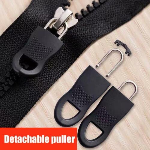 1//5//10x Universal Metal Zipper Fixer Slider Puller Zip Head Repair Replacement