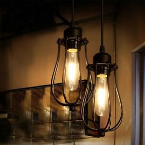 loft industrial iron cage. Image Is Loading Retro-Vintage-Industrial-Pendant-Lamp-Loft-Iron-Cage- Loft Industrial Iron Cage E