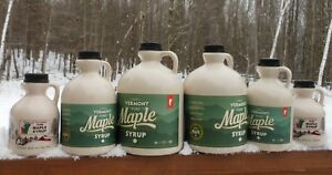 2d9364eb93b Pure Vermont Maple Syrup-1 2 Gallon-Grade A-Dark Amber-Robust-Award ...