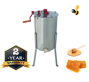 3-Frame-Honey-Extractor-Manual-Langstroth-Tangential-Stainless-Steel-Spinner