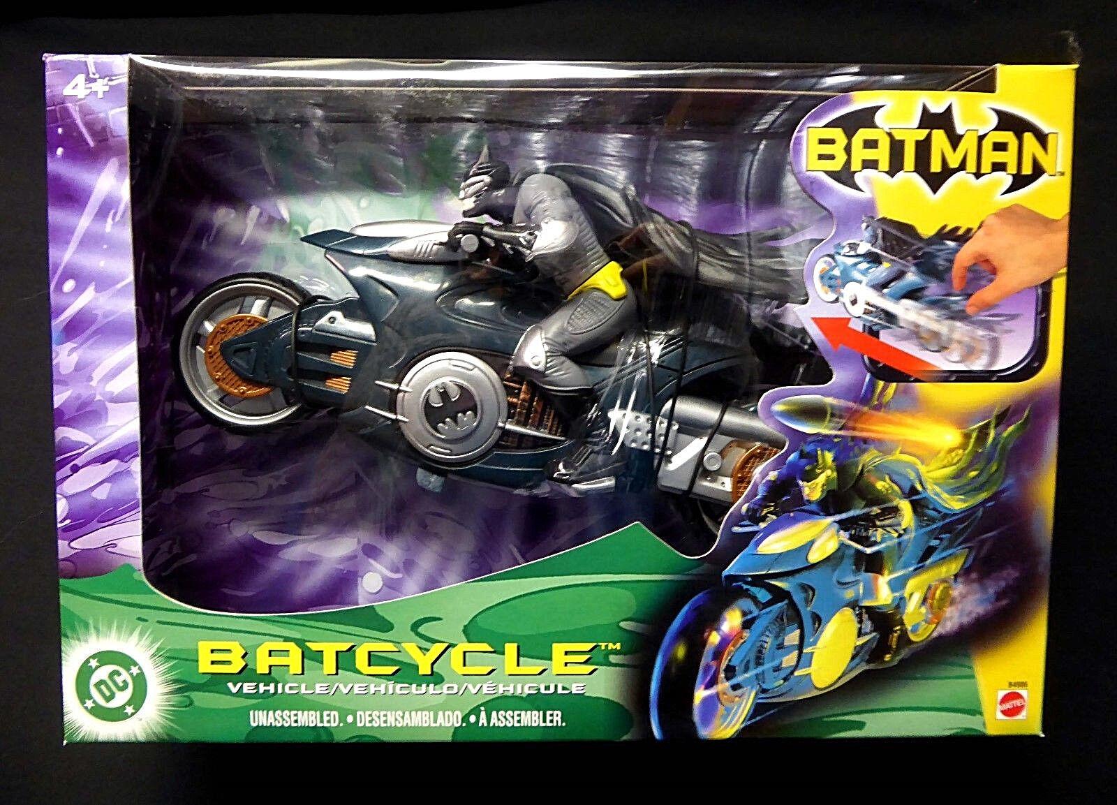 läderlappen Batcycle med Rev'N'Go Power Firing Missile Mattel New Motorcycle 2003