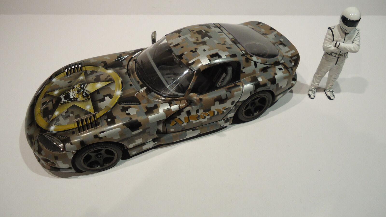 Bburago Dodge Viper GTS Coupe 1 18 Airbrush Tuning  Army Digital Camouflage   | Hervorragende Eigenschaften