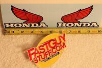 Vintage Honda Factory Red Fuel Tank Wing Decals Motocross Mt Mr Xl Cr Xr Sl Z50