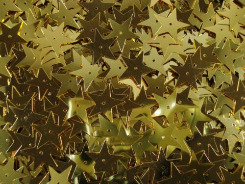 Sequins Stars 18mm. Metallic Soft Gold 250g Bulk Pack Christmas FREE POSTAGE