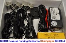 CISBO Champagne Colour Reverse Parking 4 Sensor Aid Kit Audio Buzzer Alarm 336-4