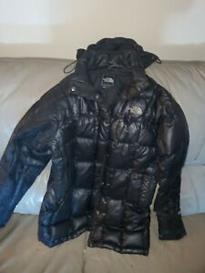 Womens-The-NORTH-FACE-Black-Metropolis-Hooded-600-Down-Parka-Jacket-small