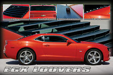 1PC BLACK ABS EGX REAR WINDOW LOUVERS E&G FITS 2010-2015 CHEVROLET CHEVY CAMARO