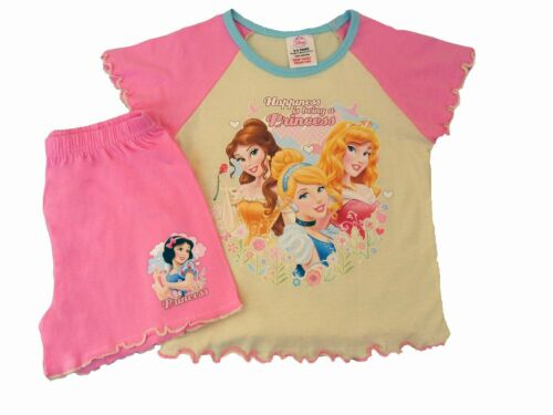 Girls Disney Happiness is being a Princess Short Pyjama Sleepwear Nightwear