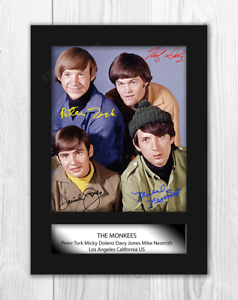 The-Monkees-A4-signed-mounted-photograph-picture-poster-Choice-of-frame