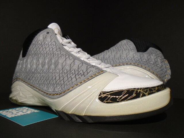 2008 NIKE AIR JORDAN XX3 XXIII 23 WHITE STEALTH GREY BLACK gold 318376-102 NEW 9