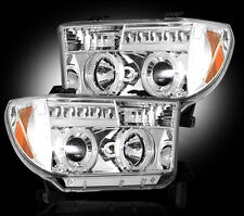 2007-2013 Toyota Tundra Projector Headlights Clear Lens w/ LED Halos & DRLs