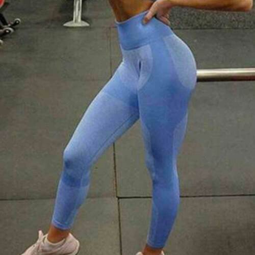 Womens Push Up Seamless Yoga Pants Sport Leggings Gym Jogging Training Fitness