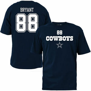 Mens Dallas Cowboys Dez Bryant  88 Navy Blue Name   Number Tee T ... 59067da3a