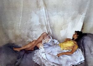 William Russell Flint CECILIA RECLINING (Unframed) Limited Edition from 2000
