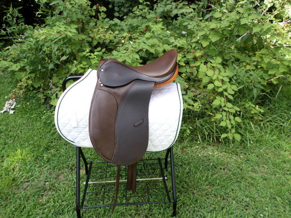 NEW  Ashley & clarke English Dressage  saddle  knee rolls 16  REG. spring tree  classic fashion